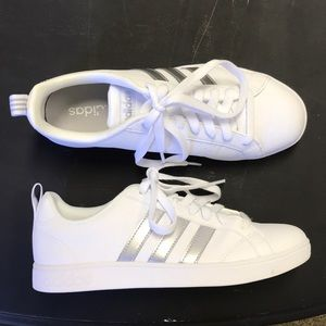 White and silver adidas